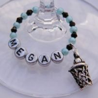 Netball Wine Glass Charms